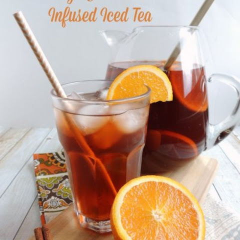 Orange & Cinnamon Infused Iced Tea