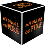 3D My Name On Fire Wallpaper Icon