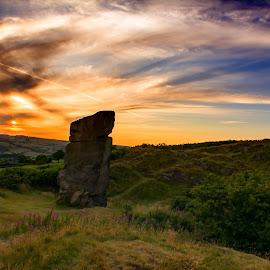 sunset & stone by Stuart Lilley - Landscapes Sunsets & Sunrises ( sunsets, sunset, stone, landscapes, landscape,  )