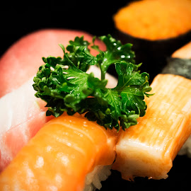 I Love Sushi by Mikhael Yonas - Food & Drink Eating ( japanese food, fish, sushi lover, sushi, raw meat )