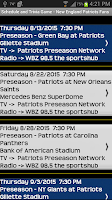 Screenshot of Schedule New England Patriots