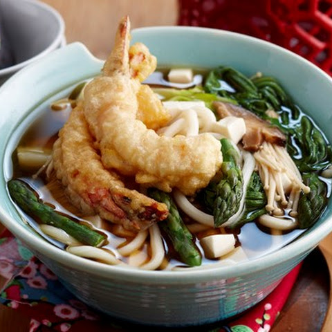 Tempura Prawns In Udon Soup