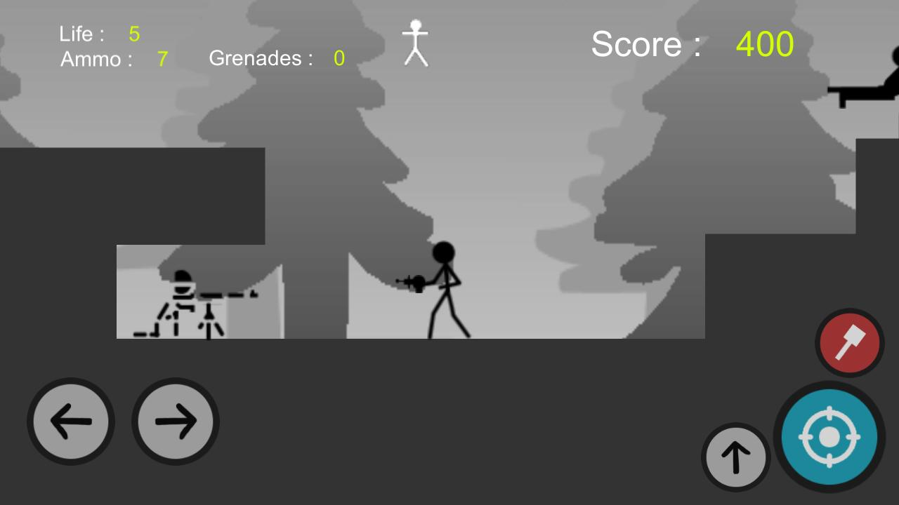 Stickman Gun - Metal Solider Slug Screenshot 3