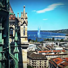 Genève by Cătălin Ivaşcu - City,  Street & Park  Vistas