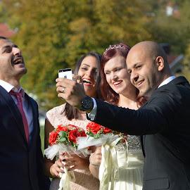 wedding by Jonas Andreasson - Wedding Bride & Groom ( love, wedding, bride, groom, flower )