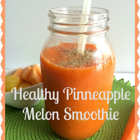 Healthy Pineapple Melon Smoothie