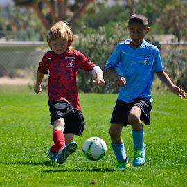 fun times by Savannah Eubanks - Sports & Fitness Soccer/Association football ( running, soccer, field, children, grass, boys, football, kids )