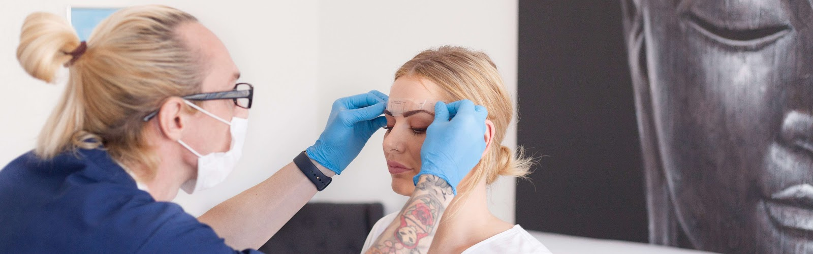 Permanent Makeup Consultation for Tattooed Eyebrows