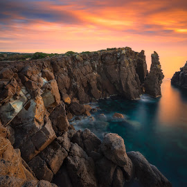 nido dei passeri by Daniele Dessì - Landscapes Beaches ( sunset, long exposure, seascape, landscape, rocks )
