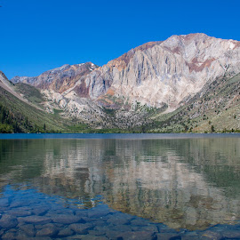 Reflection at Convict Lake by Rafi SM - Landscapes Mountains & Hills ( reflection, mountains, waterscape, california, lake )