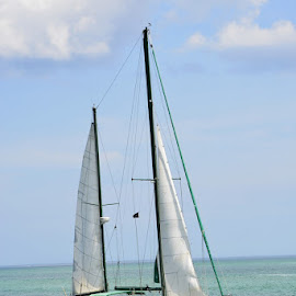 Ponce Inlet by Bill Telkamp - Transportation Boats ( water, boats, ocean, inlet, sailbo )