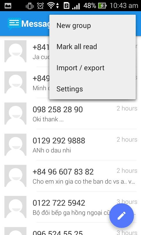 Messaging SMS Pro Screenshot 1