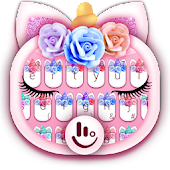 Cute Flower Unicorn Keyboard Theme