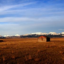 Where The Prairiei Meets The Rockies by Brian Robinson - Landscapes Prairies, Meadows & Fields