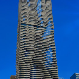 Aqua (Chicago) by Tricia Scott - Buildings & Architecture Office Buildings & Hotels ( office, skyline, building, skyscraper, architecture, hotel, chicago, aqua )