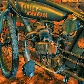 My Od Harley by James Kirk - Transportation Motorcycles ( harley, old, motorcycle, antique )