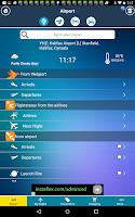 Screenshot of Halifax Airport+Flight Tracker