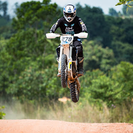 FlyHigh by Vijay Tripathi - Sports & Fitness Motorsports ( rider, bike, motocross, motorbike, dirt road )