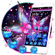 Glowing Purple Butterfly Theme APK