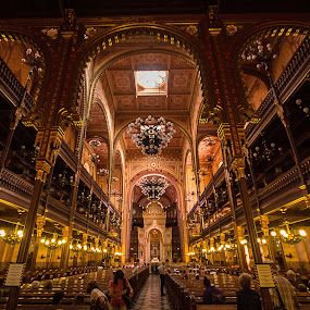 Dohany Street Synagogue, Budapest. by Simon Page - Buildings & Architecture Places of Worship