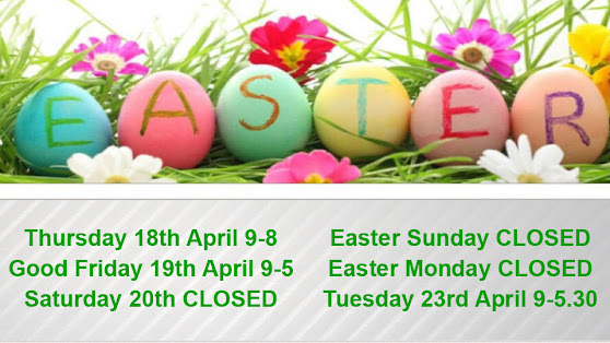 Easter opening times for the salon.