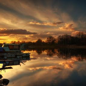 Pohádkový západ by Jana Vondráčková - Landscapes Sunsets & Sunrises