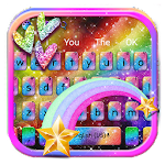 Glitter Rainbow Keyboard Theme Icon