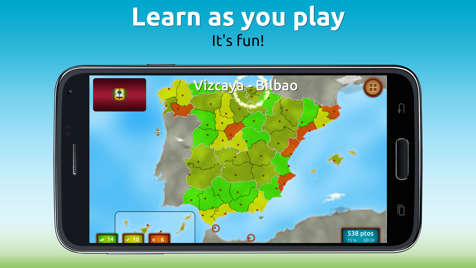 GeoExpert - Spain Geography Screenshot 1