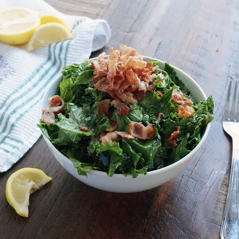 Warm Kale Bacon Salad