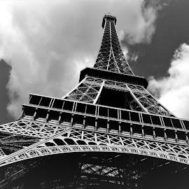 Eiffel Tower by Tomasz Budziak - Buildings & Architecture Bridges & Suspended Structures ( eiffel tower, paris, france, architecture )