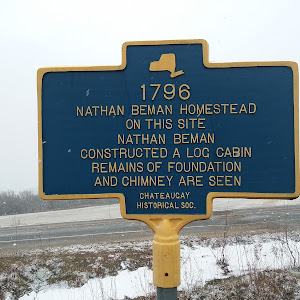 1796 Nathan Beman Homestead On this site Constructed a log cabin Remains of foundation and chimney are seen. Chateaugay Historical Soc.Submitted by Alan R. Reno