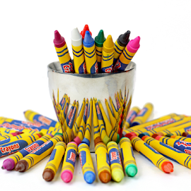 Crayons by Dipali S - Artistic Objects Education Objects ( cup, reflection, group of objects, in a row, spectrum, wood, office supply, colors, school supplies, art, variation, white, writing instrument, education, bar graph, multi colored, photography, business, pencil, heap, macro, wave pattern, pattern, vibrant color, chart, pencil drawing, industry )