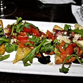 Bruschetta. by Peter DiMarco - Food & Drink Plated Food ( bruschetta, foods, bread, food, appetizer )