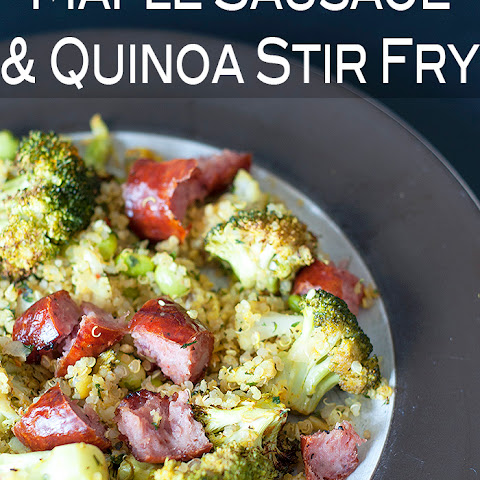 Maple Sausage Quinoa Stir Fry