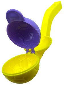 """Форма для лепки снега серии """"Город Игр"""", мяч L, крышка, желтый"""