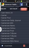 Screenshot of Cameroon Radio News