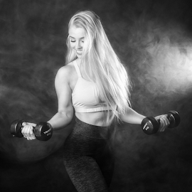 Lets do this.... by Kristvin Guðmundsson - Sports & Fitness Fitness ( iceland, female, black and white, fitness, sports,  )