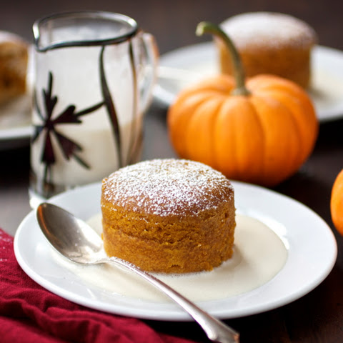 Warm Pumpkin Pudding Cakes with Crème Anglaise