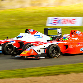 Battle in Formula 4 by Martin Thomson - Sports & Fitness Motorsports ( btcc, knockhill, formula 4, motorsport, f4 )