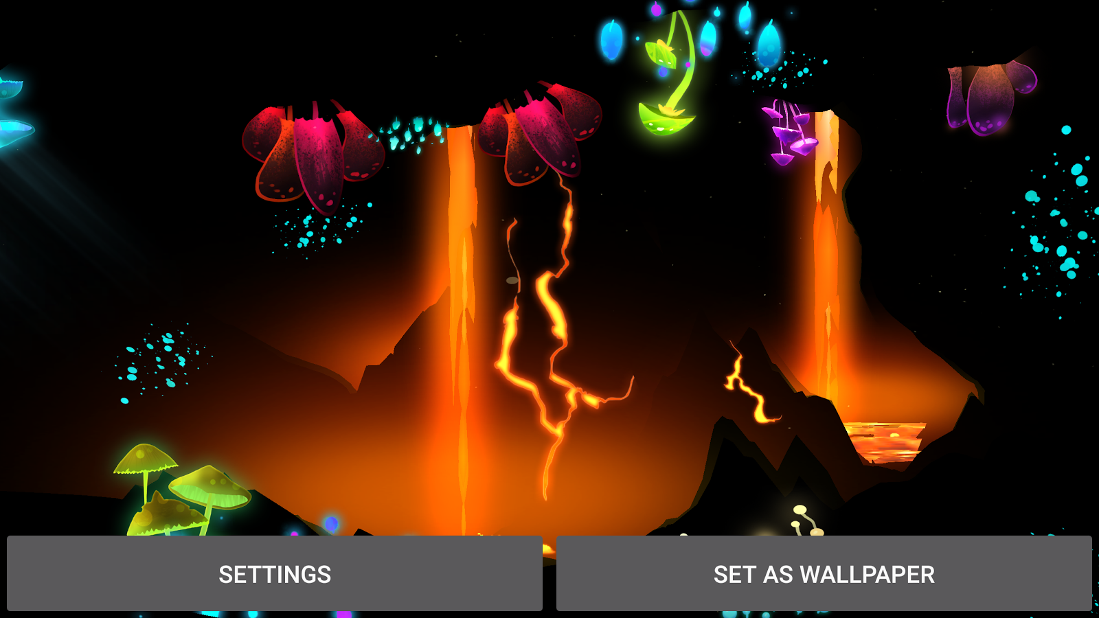 3D Fantasy Epic Lava Cave LWP Screenshot 16