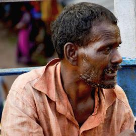 Helpless by Anirban Chatterjee - People Portraits of Men ( agony, helpless, man )