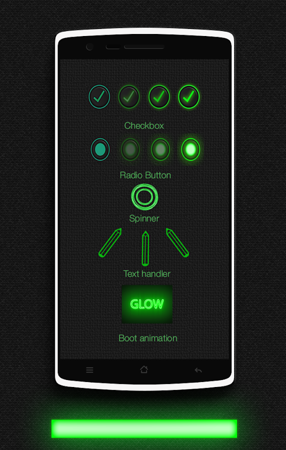 Glow Green CM13 CM12.x Theme Screenshot 2