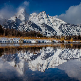 Rigid Reflection by Mark Vogt - Landscapes Mountains & Hills ( reflection, mountain, beautiful, snow, breath taking, tnp, scenery, landscape, tetons,  )
