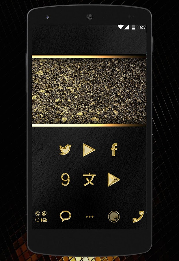 Gold Luxury - icon pack Screenshot 0
