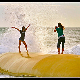 { Catching the Wave's From Hurricane Ike ~ 2 July  }  by Jeffrey Lee - People Street & Candids ( { catching the wave's from hurricane ike ~ 2 july  } )