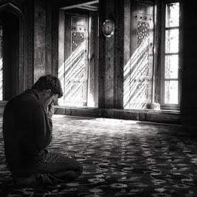 10.30 prayer by Izidor Gasperlin - People Portraits of Men