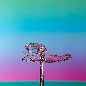 Rainbow splash by Nick Vanderperre - Abstract Water Drops & Splashes ( 2017, water, druppel )