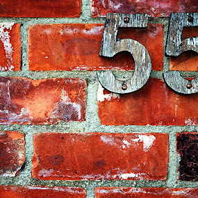 55 Bricks by Alex Graeme - Products & Objects Signs ( wales, 55, bricks, porthgain )