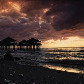 Galau Sky by Prana Jagannatha - Landscapes Waterscapes ( beach )