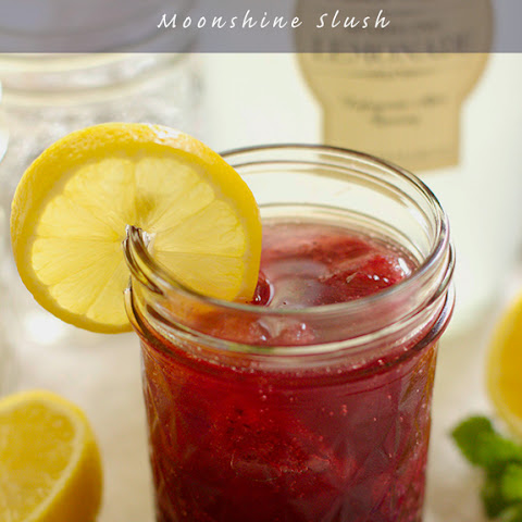 Lemon Blueberry Moonshine Slush